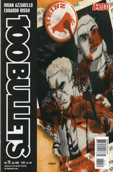 100 Bullets #72 Azzarello Risso Mature Readers FVF