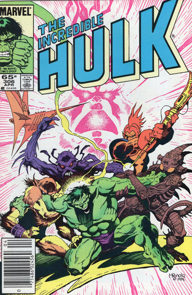 Incredible Hulk #306 Mignola Cover News Stand Variant VF