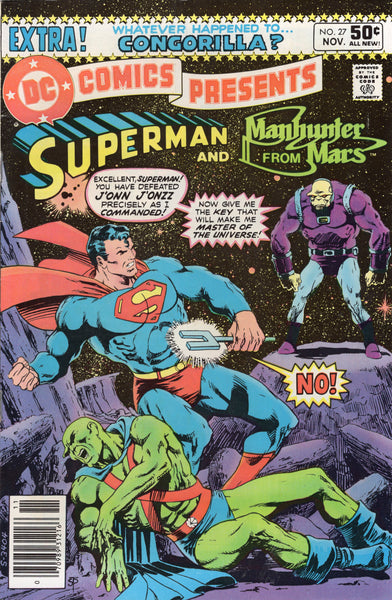 DC Comics Presents #27 Superman And Martian Manhunter! First Mongul !! News Stand Variant !!!FN
