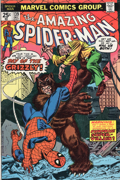 Amazing Spider-Man #139 Day Of The Grizzly Bronze Age Key