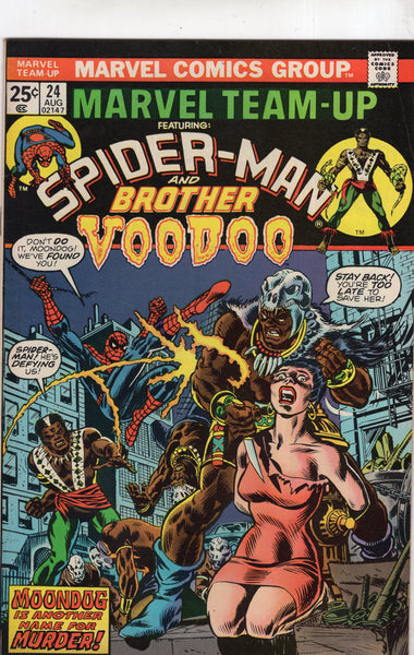 Marvel Team-Up #24 Spidey and Brother Voodoo! Bronze Age w/ MVS FN