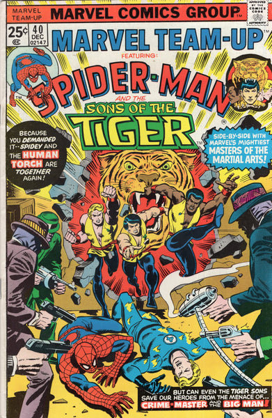 Marvel Team-Up #40 Spidey And Sons Of The Tiger! HTF Bronze Age FN