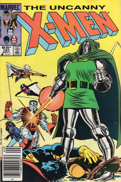 Uncanny X-Men #197 Dr. Doom? News Stand Variant VG