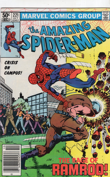 Amazing Spider-Man #221 The Rage Of Ramrod! HTF News Stand Variant FVF