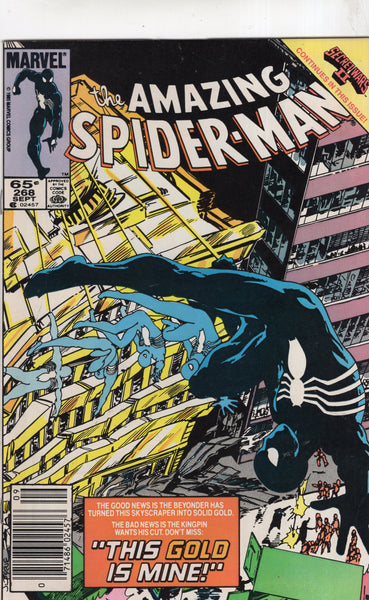 "Amazing Spider-Man #268 ""This Gold Is Mine!"" Byrne Frenz Art News Stand Variant FN"