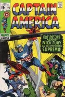 Captain America #123 Battles Nick Fury (?) And The Mysterious Suprema Bronze Age Colan Art FVF