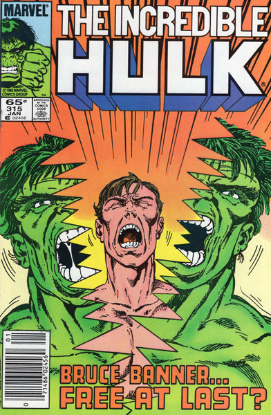 Incredible Hulk #315 Free At Last? News Stand Variant VF