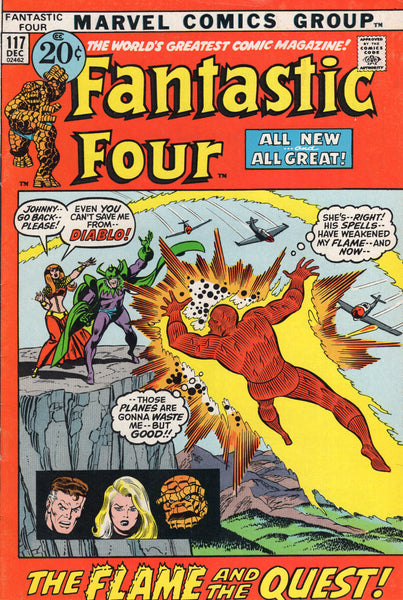 Fantastic Four #117 Diablo Returns! Bronze Age Classic Buscema Art FN