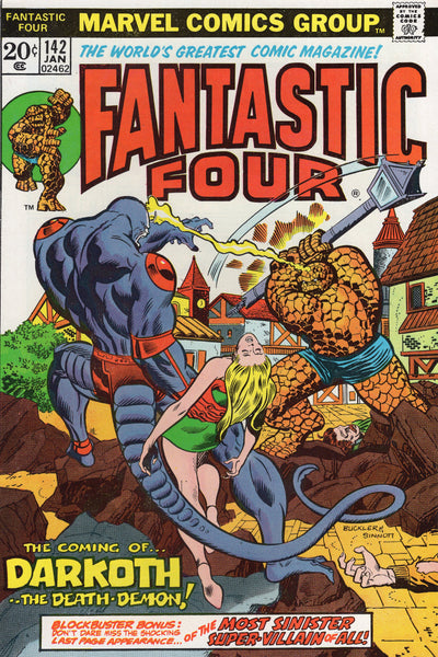 Fantastic Four #142 The Coming Of ... Darkoth... The Death-Demon! Bronze Age Key FVF