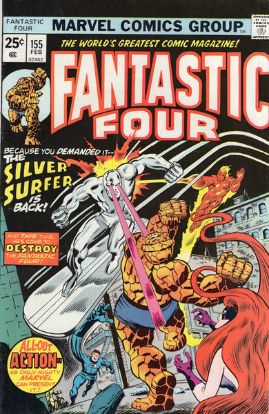 Fantastic Four #155 Dr. Doom Triumphs Over The Silver Surfer! Buckler & Sinnott Bronze Age Key FN