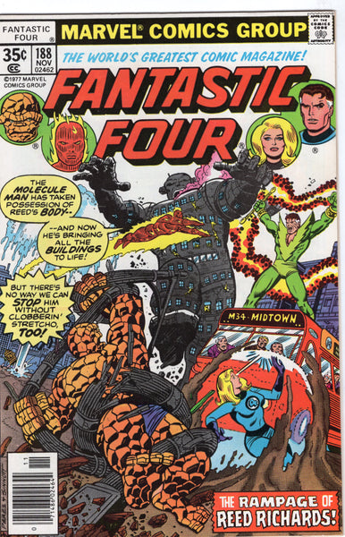 Fantastic Four #188 The Rampage Of Reed Richards! Bronze Age Perez Art FN