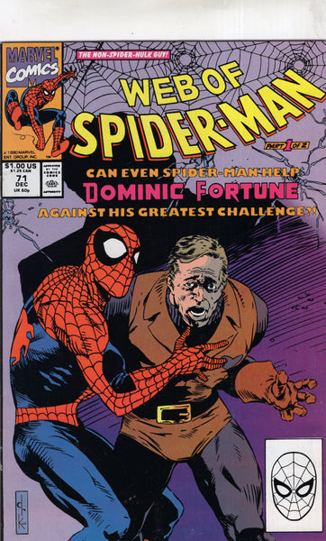 Web Of Spider-Man #72 Dominic Fortune! VF