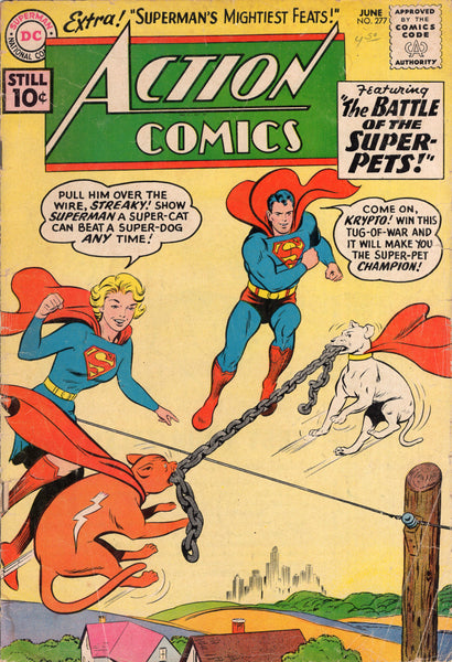 Action Comics #277 Battle Of The Super-Pets! HTF Early Silver Age GVG