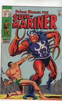 "Sub-Mariner #12 ""A World Against Me!"" Silver Age Classic FN-"