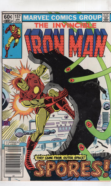 Iron Man #157 The Outer Space Spores! News Stand Variant FN