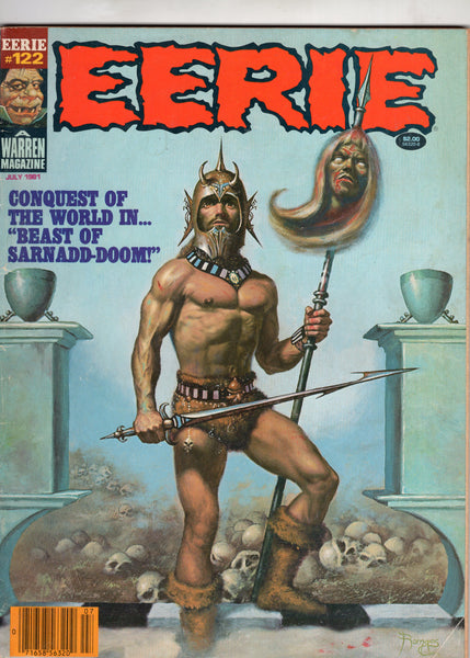 Eerie #122 The Beast Of Sarnadd-Doom! HTF Horror Magazine Later Issue VG