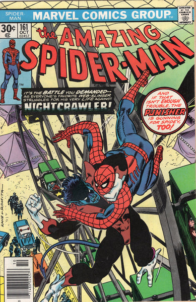 Amazing Spider-Man #161 Punisher! Nightcrawler! First Apearance Of Jigsaw! Bronze Age Key FN