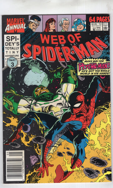 Web Of Spider-Man Annual #6 Psycho-man! News Stand Variant VF