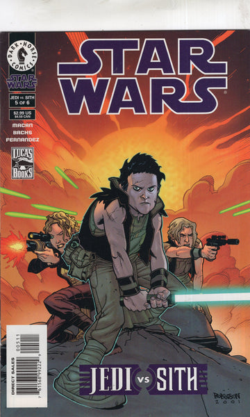 Star Wars Jedi vs Sith #5 of 6 Dark Horse VF