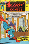 "Action Comics #390 ""The Self-Destruct Superman!"" Early Bronze Age Classic FN-"