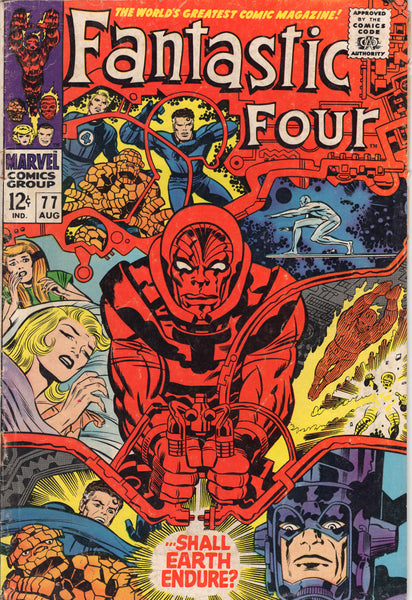 Fantastic Four #77 Galactus! Silver Surfer! Kirby! Silver Age! VG