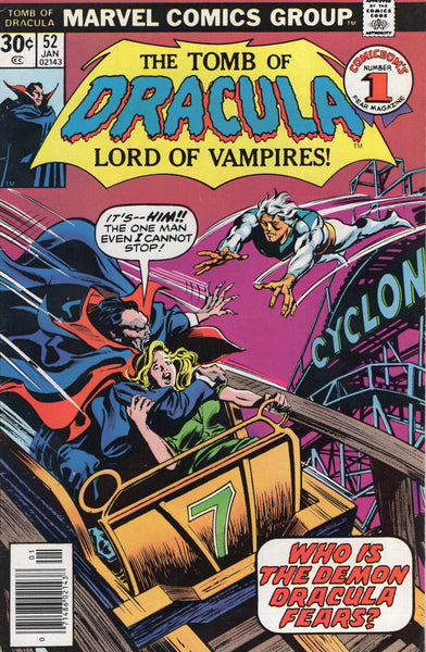 Tomb Of Dracula #52 Who Does Dracula Fear? First Hannibal King Bronze Age Horror VGFN