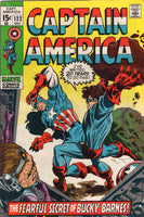 "Captain America #132 ""The Fearful Secret Of Bucky Barnes!"" Early Bronze Age Colan Classic FN"