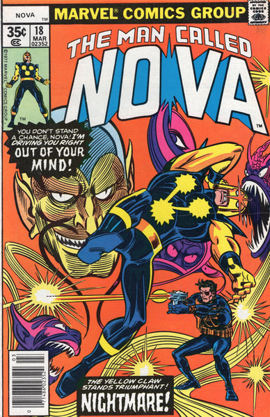 The Man Called Nova #18 The Yellow Claw! VF