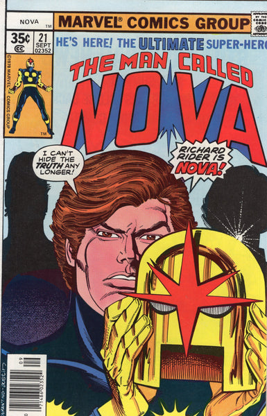 Nova #21 I Can't Hide The Truth Any Longer! Bronze Age VF