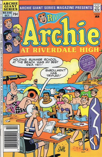 "Archie Giant-Series Magazine #586 ""Archie at Riverdale High"" FVF"