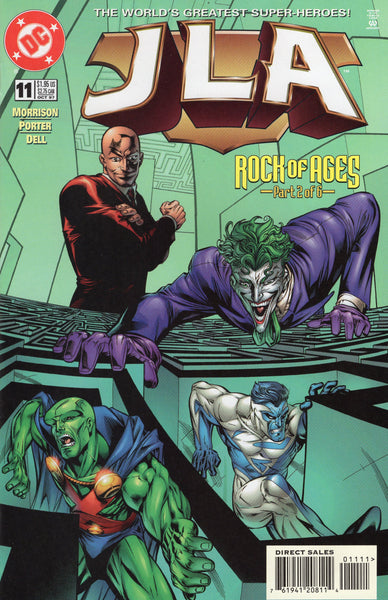 JLA #11 Hostile Takeover! Joker, Luthor and the Rest Of The Gang NM-