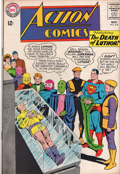 "Action Comics #318 ""The Death Of Luthor!"" VG"