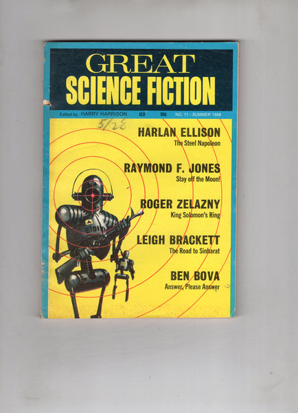 Great Science Fiction #11 Pulp Magazine Summer 1968 VG