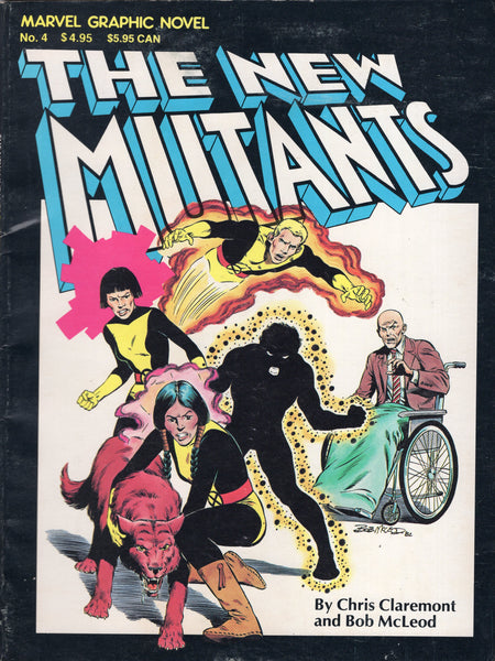 Marvel Graphic Novel #4 The New Mutants First Appearance 4th Print Reading copy VG