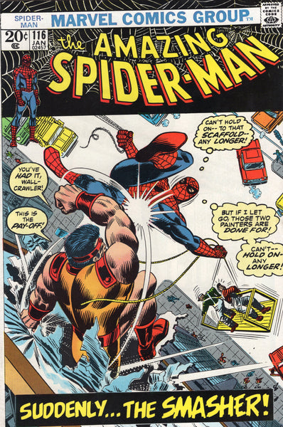 Amazing Spider-Man #116 Suddenly, The Smasher! Bronze Age Romita Classic FVF