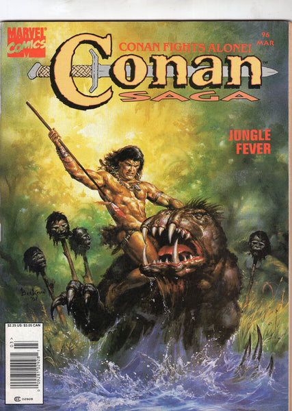 Conan Saga #96 The Devil Has Many Legs... HTF Later Issue News Stand Variant VGFN