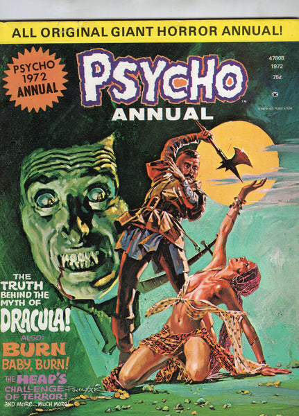 Psycho 1972 Annual Skywald Publishing HTF Bronze Age Horror VGFN