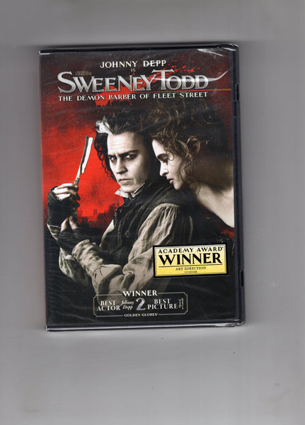Sweeney Todd The Demon Barber Of Fleet Street! Sealed New DVD Johnny Depp Mature Readers