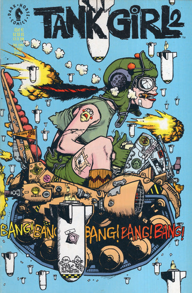 "Tank Girl #2 Original Dark Horse Series ""To Hip For Spielberg!"" HTF Indy FN"