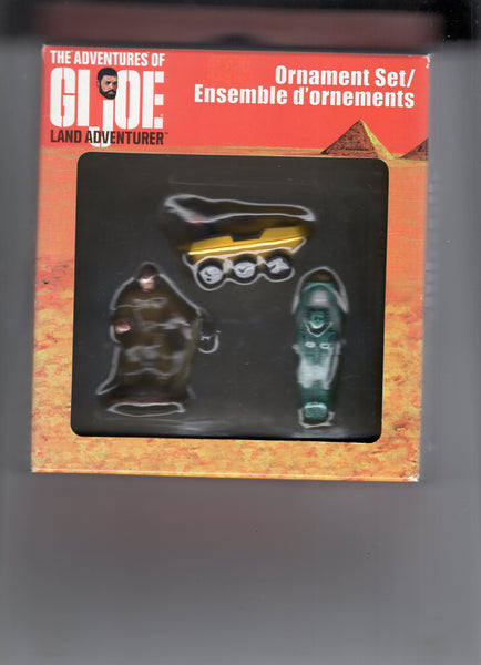 G.I. Joe Land Adventurer Ornament Set (The Mummy's Tomb!) Sealed In Box New
