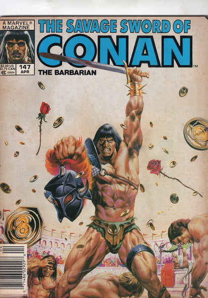 Savage Sword Of Conan #147 The Vulture's Shadow! News Stand Variant VG