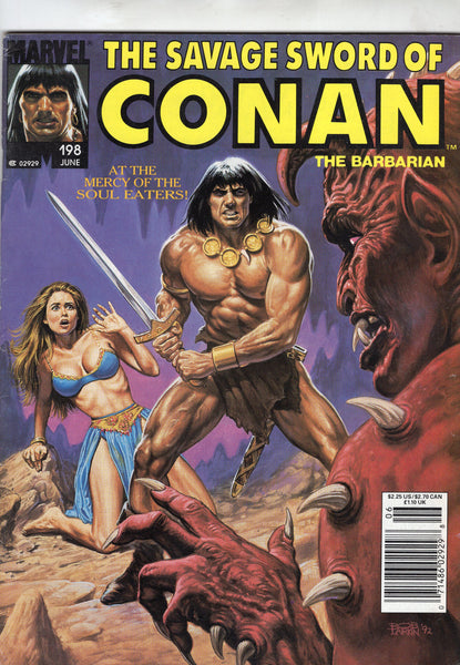 Savage Sword Of Conan #198 The Soul Eater! News Stand Variant VG+
