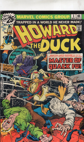 Howard The Duck #3 Master Of Quack-Fu! Bronze Age FN