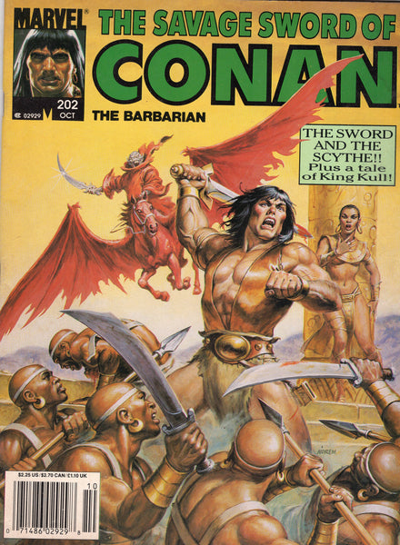 Savage Sword Of Conan #202 The Sword And The Scythe! News Stand Variant VGFN