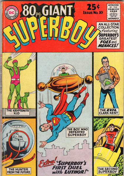 "80 Page Giant #10 Superboy ""First Duel With Luthor!"" Silver Age Square Bound Beauty VGFN"