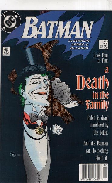 Batman #429 A Death In The Family! News Stand Variant FVF
