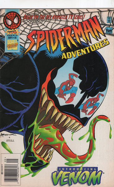 Spider-Man Adventures #10 Introducing Venom! HTF News Stand Variant Lower Grade VG