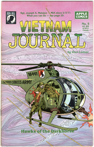 Vietnam Journal #5 Apple Comics HTF FN