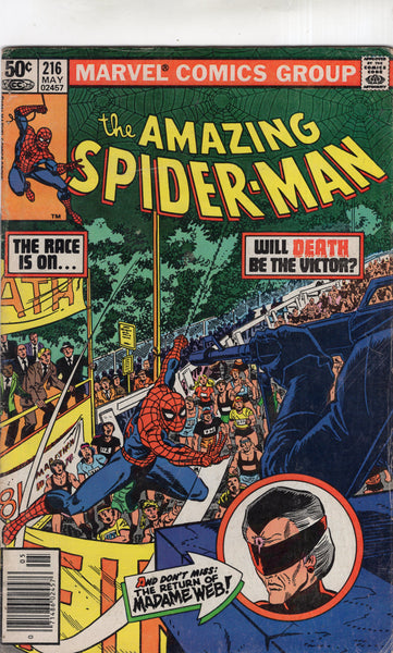 Amazing Spider-Man #216 Madame Web! News Stand Variant VG