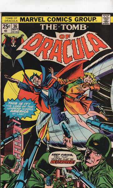 Tomb Of Dracula #36 Flight Of Fear! Bronze Age Horror Classic FN